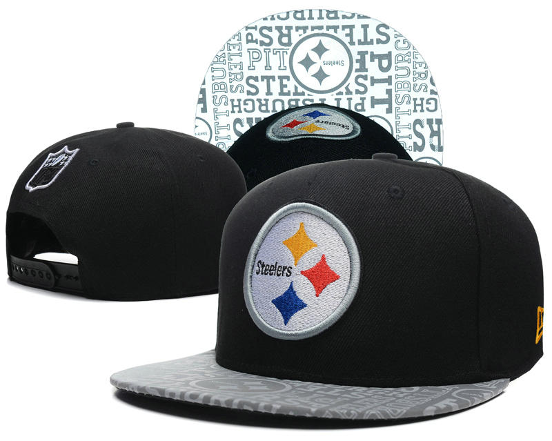 Pittsburgh Steelers 2014 Draft Reflective Black Snapback Hat SD 0613